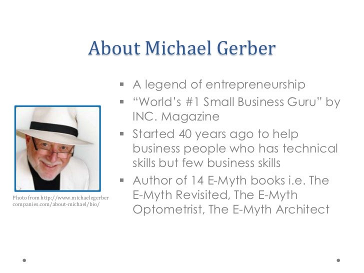 The EMyth By Michael Gerber - E myth business plan template