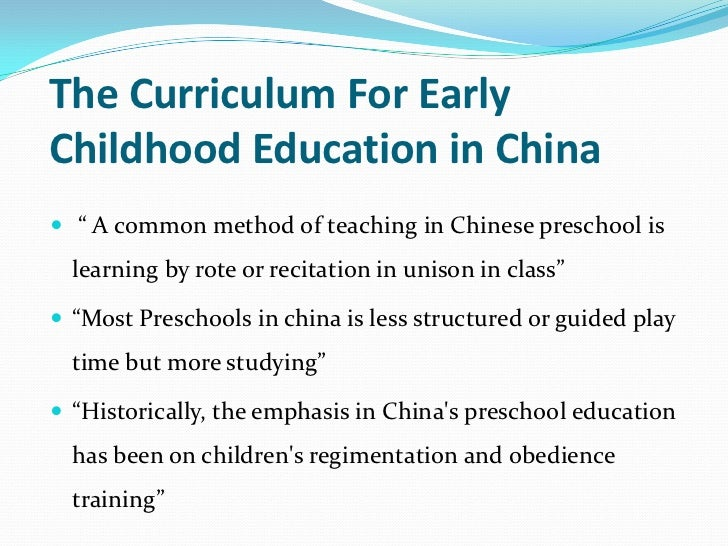 Nurturing the Future: Early Childhood Education in China