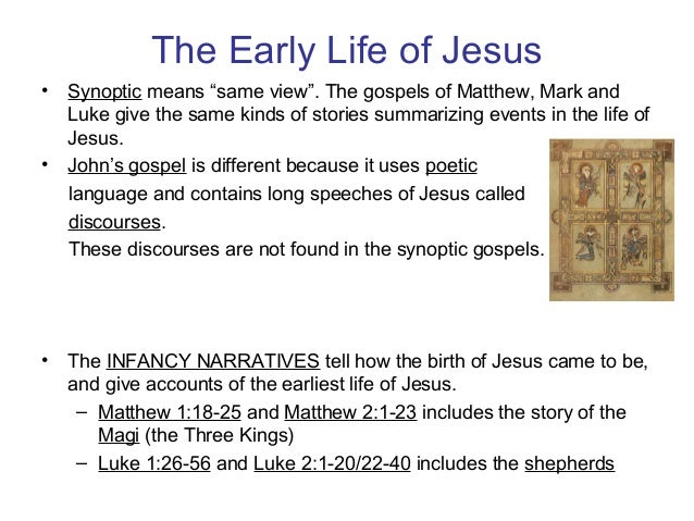 The early life and childhood of jesus