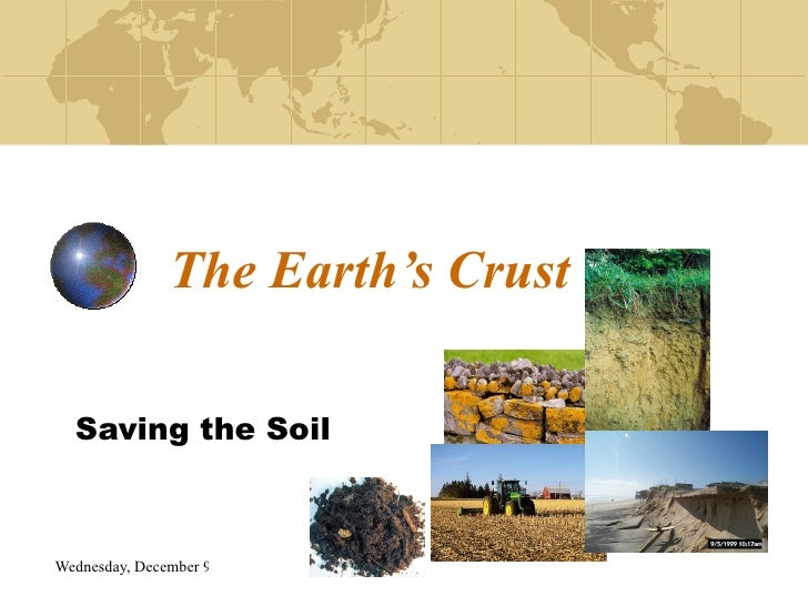 The Earth's Crust Saving the Soil