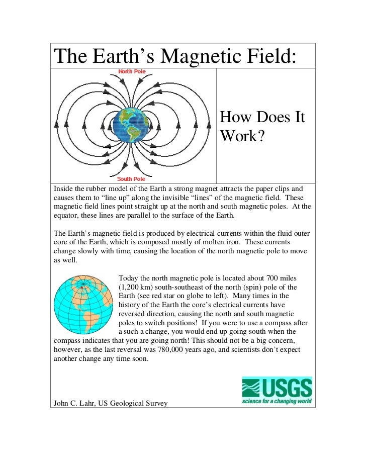 The Earth's Magnetic Field:                                                      How Does It                              ...