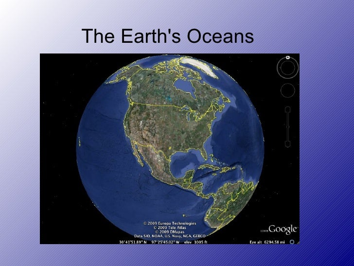 The Earth's Oceans