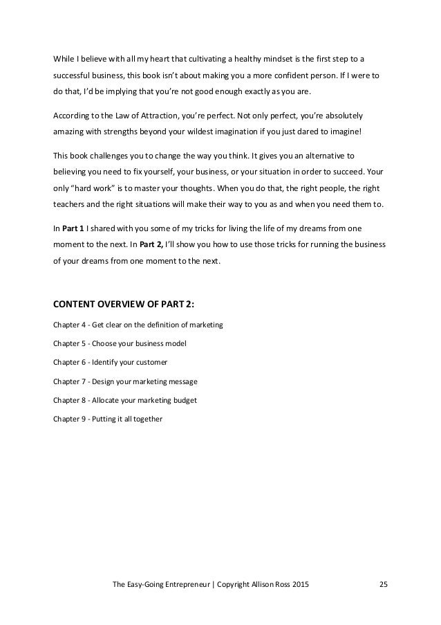 The EasyGoing Entrepreneur Using the Law of Attraction as your mark – Law of Attraction Worksheets