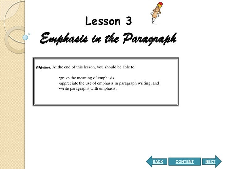 emphatic paragraph example