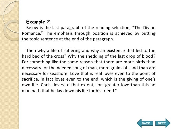 examples of emphasis in writing