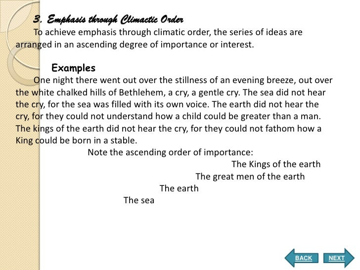 Order of importance essay