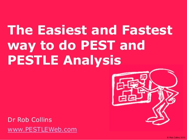 © Rob Collins 2010 The Easiest and Fastest way to do PEST and PESTLE Analysis Dr Rob Collins www.PESTLEWeb.com