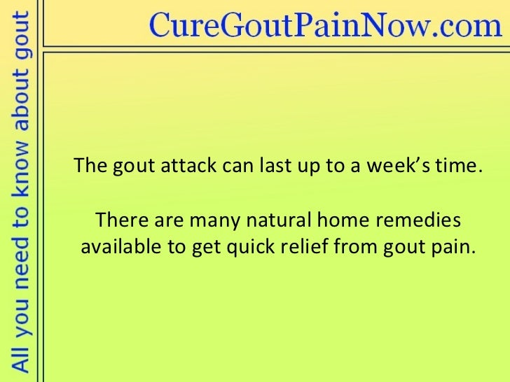 Natural Remedies For Gout Attack