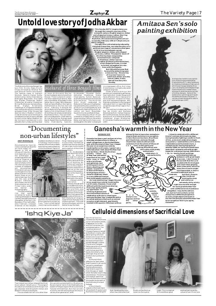 THE ECHO OF INDIA KOLKATA                   =   Sunday February 15, 2009         =                                        ...