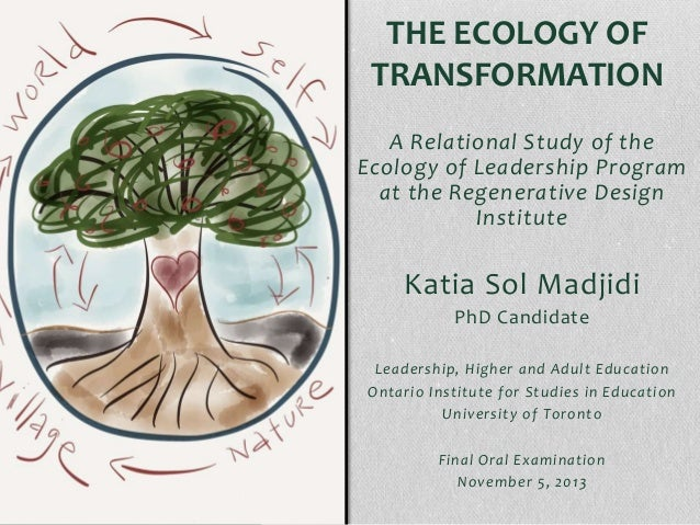 THE ECOLOGY OF TRANSFORMATION A Relational Study of the Ecology of Leadership Program at the Regenerative Design Institute...