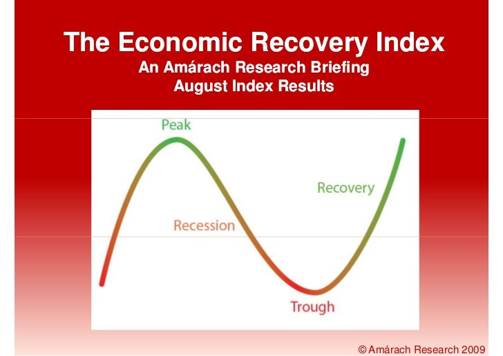 The Economic Recovery Index      An Amárach Research Briefing          August Index Results                               ...