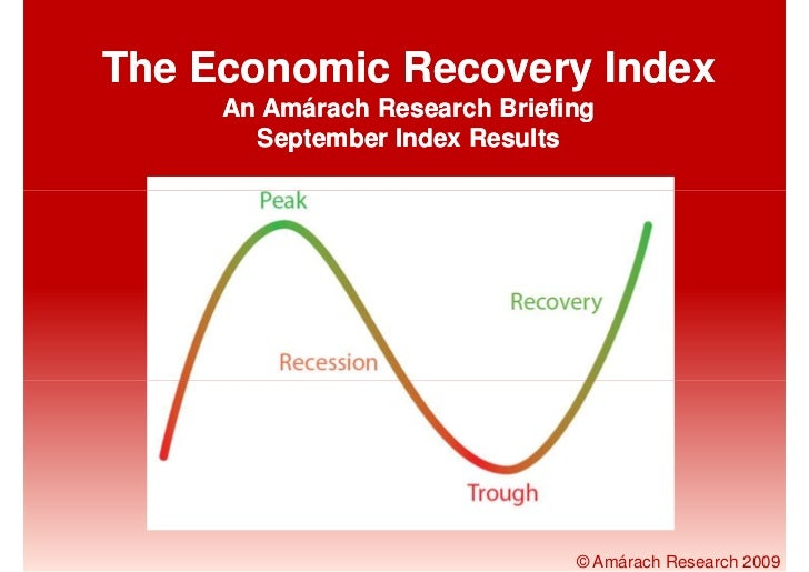 The Economic Recovery Index      An Amárach Research Briefing        September Index Results                              ...