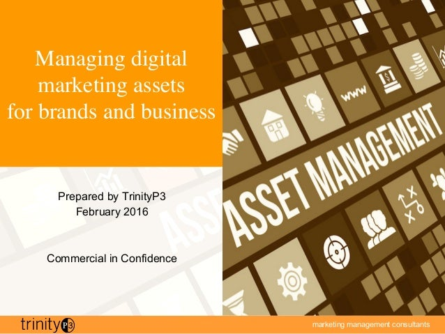 marketing management consultants Managing digital marketing assets for brands and business Prepared by TrinityP3 February ...