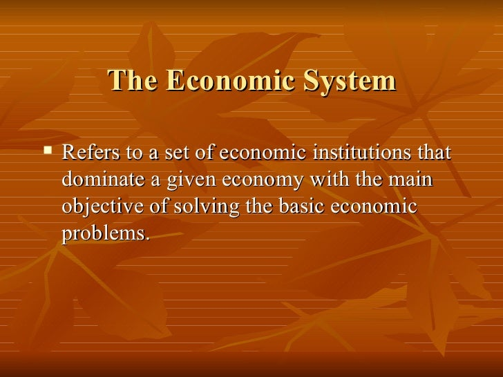 Image result for the economic System is the problem