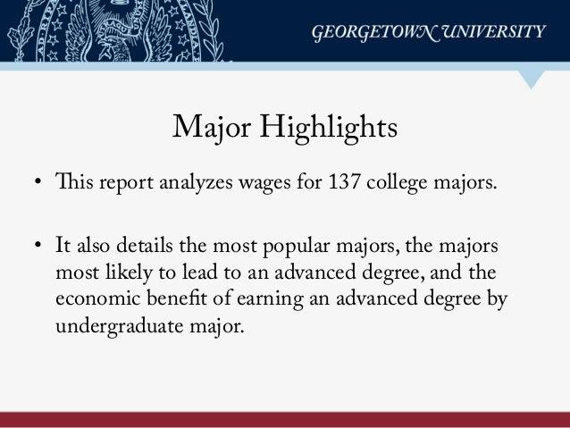 The Economic Value of College Majors Slide 2