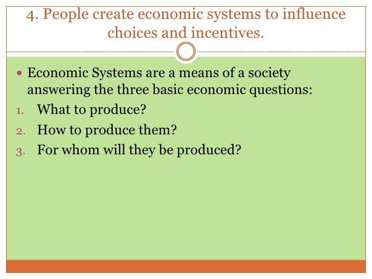 three economic questions essay Free economic systems papers, essays an individual person has little or possibly no influence over how the basic economic questions are answered.