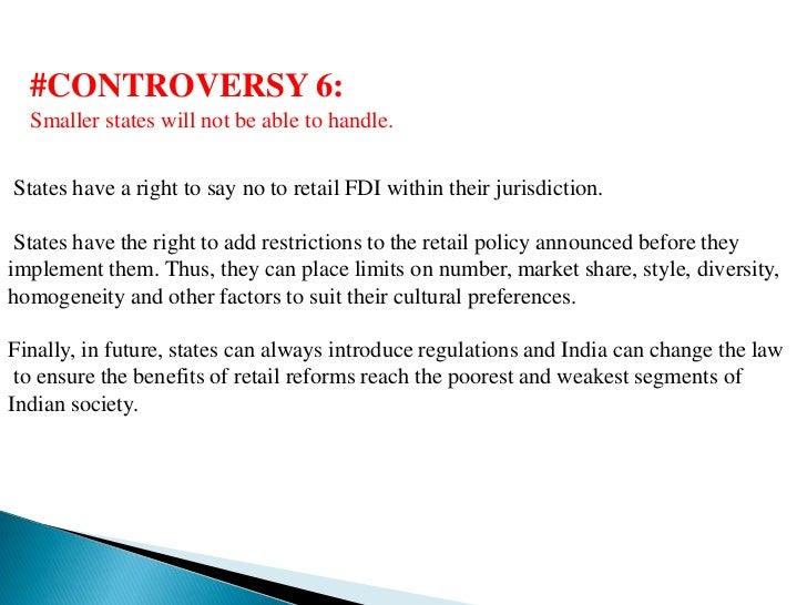 fdi in multi brand retail Episteme: an online interdisciplinary, multidisciplinary & multi-cultural journal bharat college of commerce, badlapur, mmr, india volume 2, issue 3 december 2013.