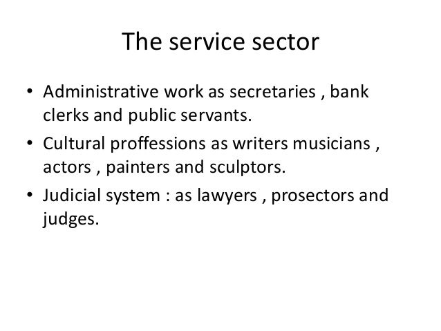 The service sector