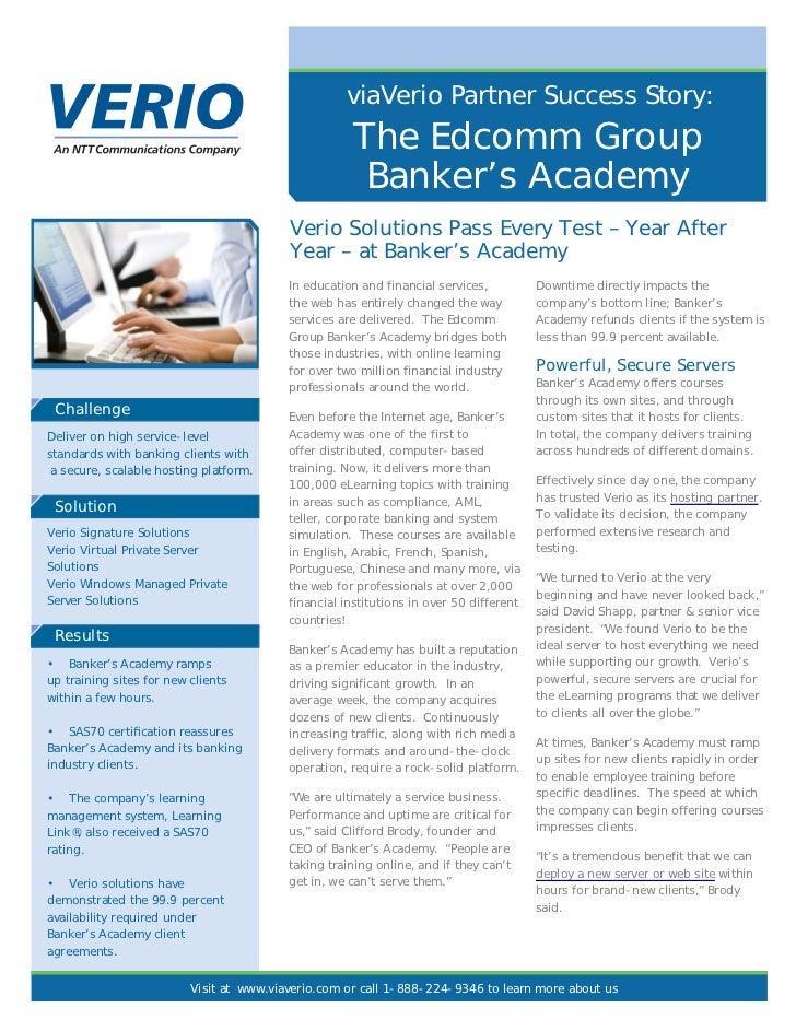 viaVerio Partner Success Story:                                                     The Edcomm Group                      ...