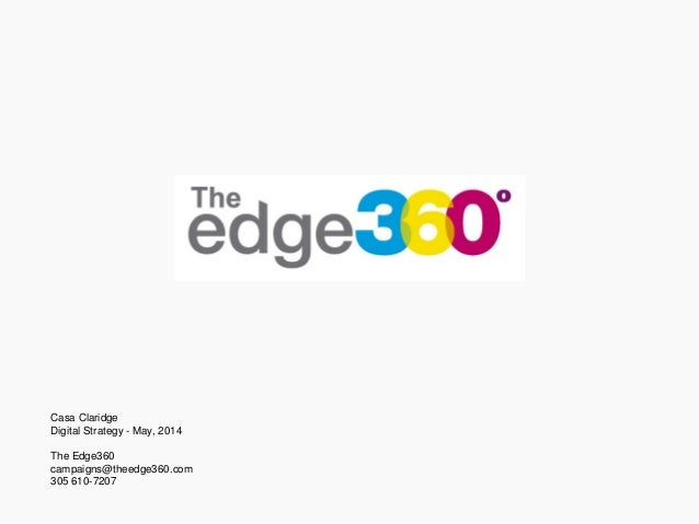 Casa Claridge Digital Strategy - May, 2014 The Edge360 campaigns@theedge360.com 305 610-7207