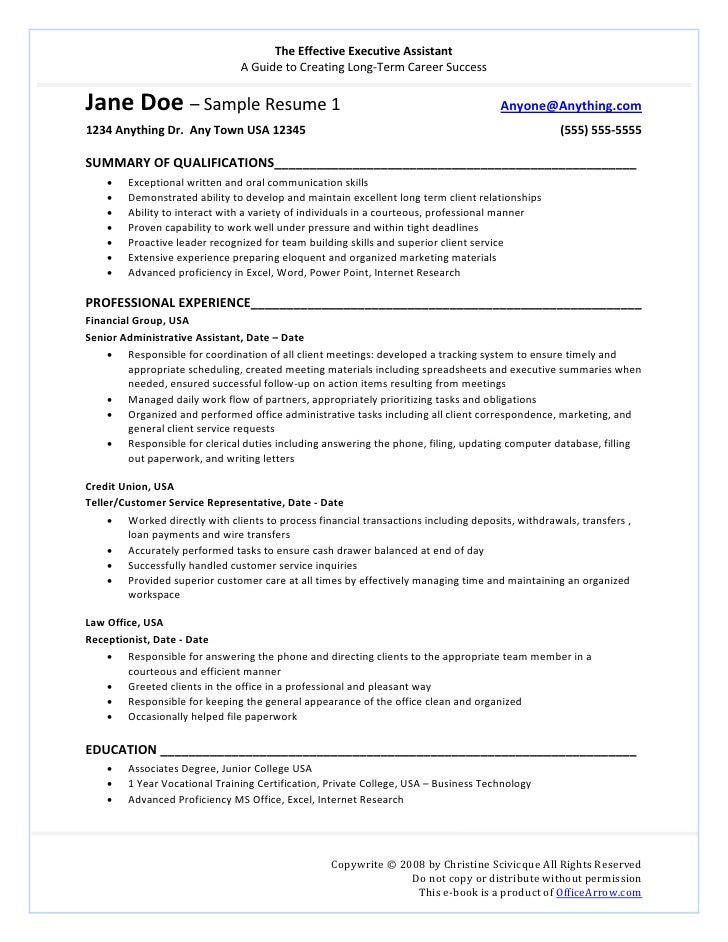 Promotion Resume Template ...