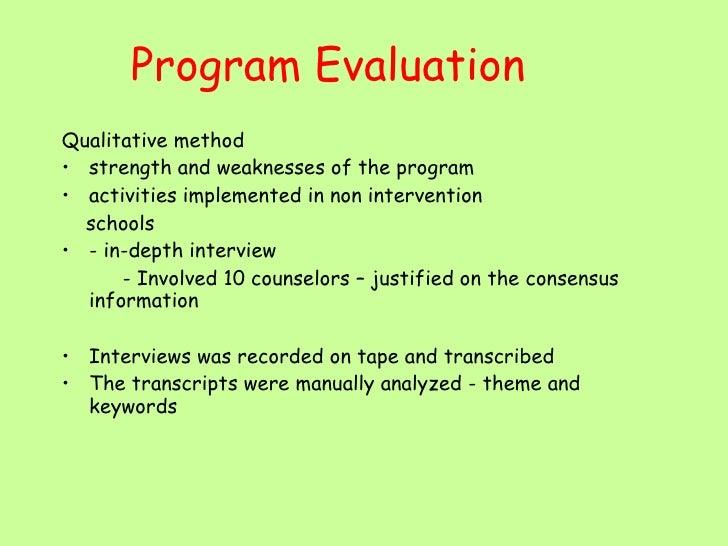 effectiveness of guidance program in public (independent versus public schools), and school counselor school counseling program school counselor effectiveness of school counseling programs.