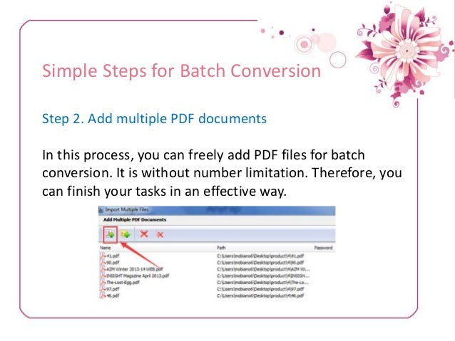 batch convert numbers to pdf