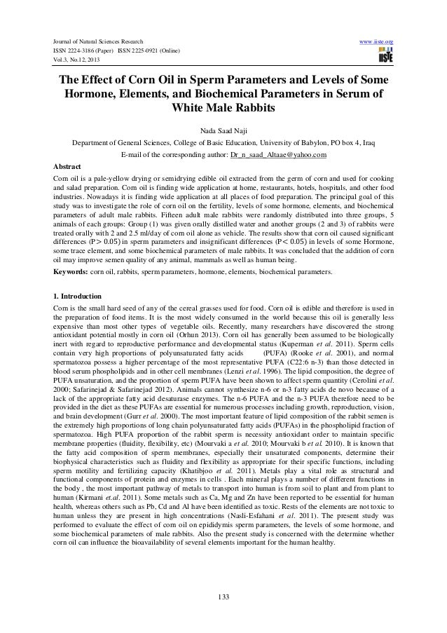 Journal of Natural Sciences Research ISSN 2224-3186 (Paper) ISSN 2225-0921 (Online) Vol.3, No.12, 2013  www.iiste.org  The...