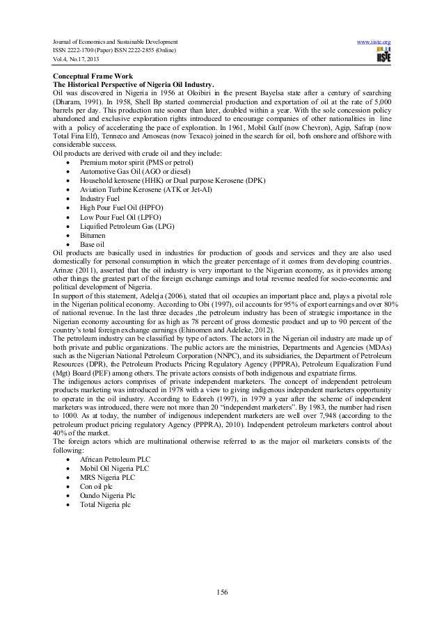 The nigeria oil industry essay