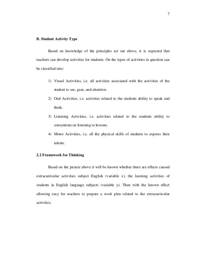 7 B. Student Activity Type Based on knowledge of the principles set out above, it is expected that teachers can develop ac...