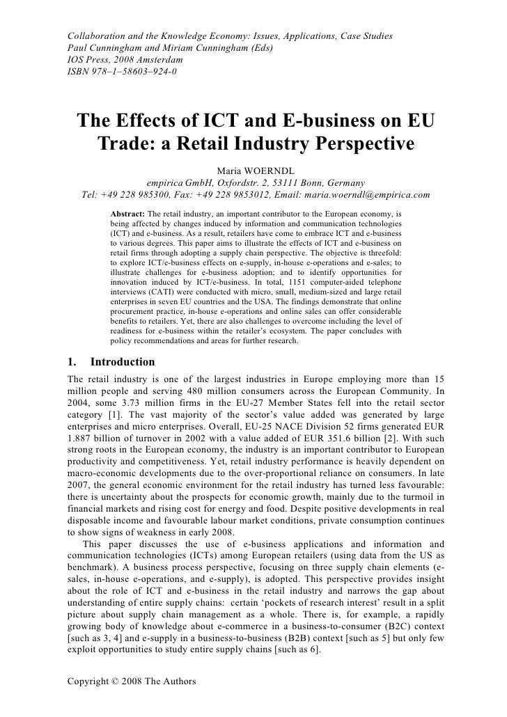 Collaboration and the Knowledge Economy: Issues, Applications, Case Studies Paul Cunningham and Miriam Cunningham (Eds) IO...