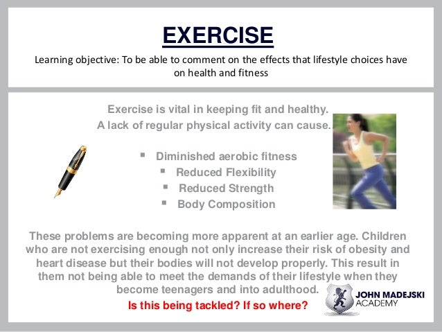 cause and effect essay on lack of exercise Cause and effect essay on lack of exercise click to continue based on the essay the myth of total cinema by andré bazin seung-hoon jeong.