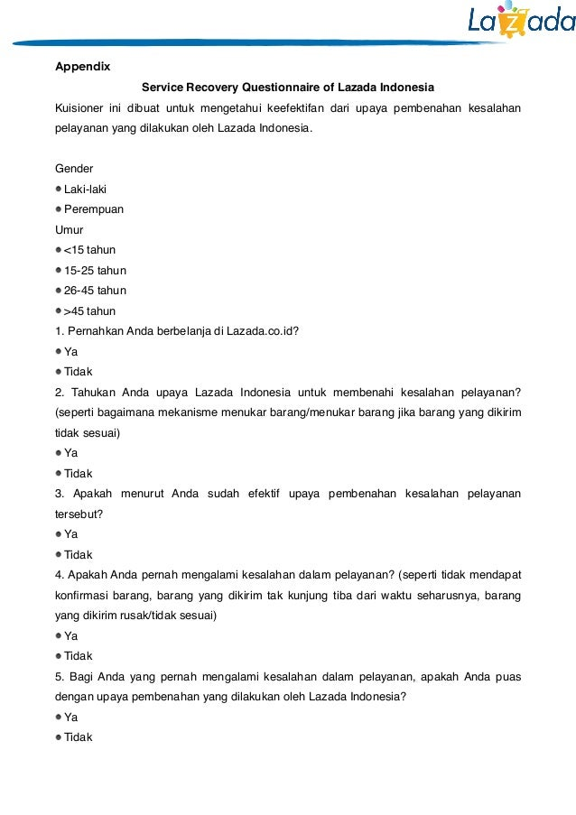 The Effect of Service Recovery in Lazada Indonesia towards Customer S…