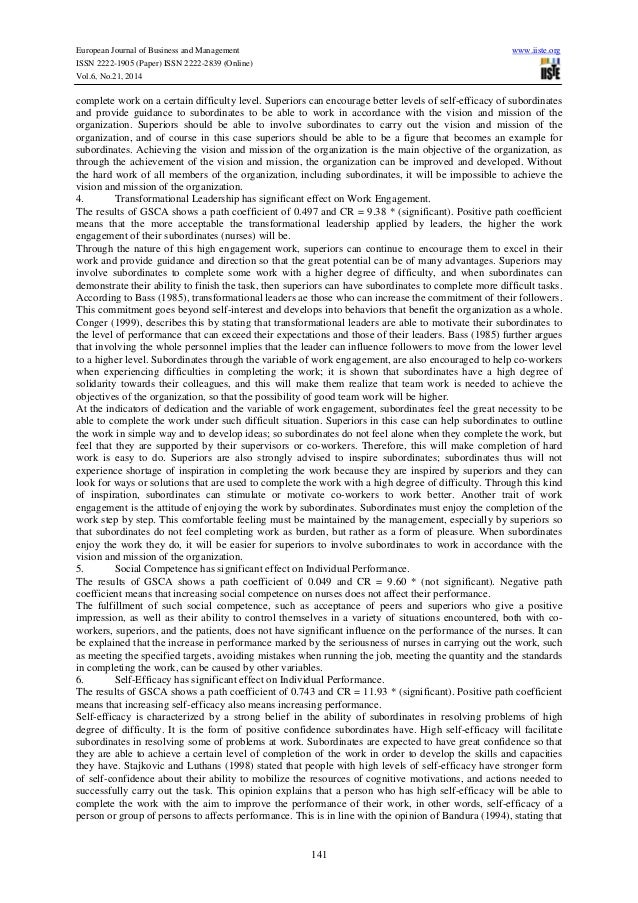 effect of transformational leadership on on The purpose of this study is to examine the impact of two comparative leadership styles on organizational performance outcomes the leadership styles undertaken is transformational and servant leadership a sample of 155 participants is taken from profit-oriented service sector of pakistan data.