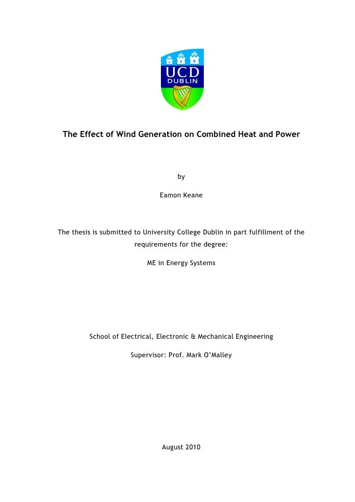 The Effect of Wind Generation on Combined Heat and Power                                           by                     ...