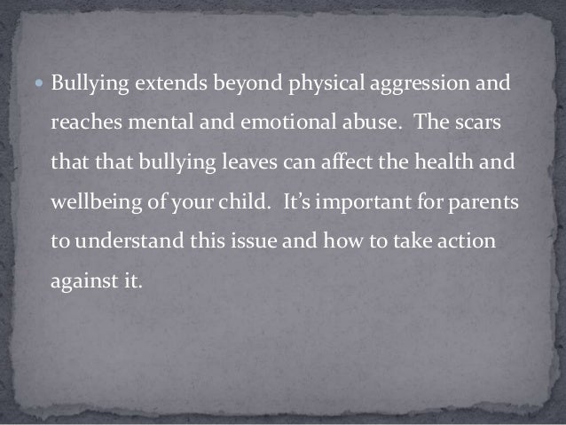 the effects of bullying on adolescents Let's decide how to measure school violence  children and adolescents who experience bullying  the negative effects of school-related violence extend.