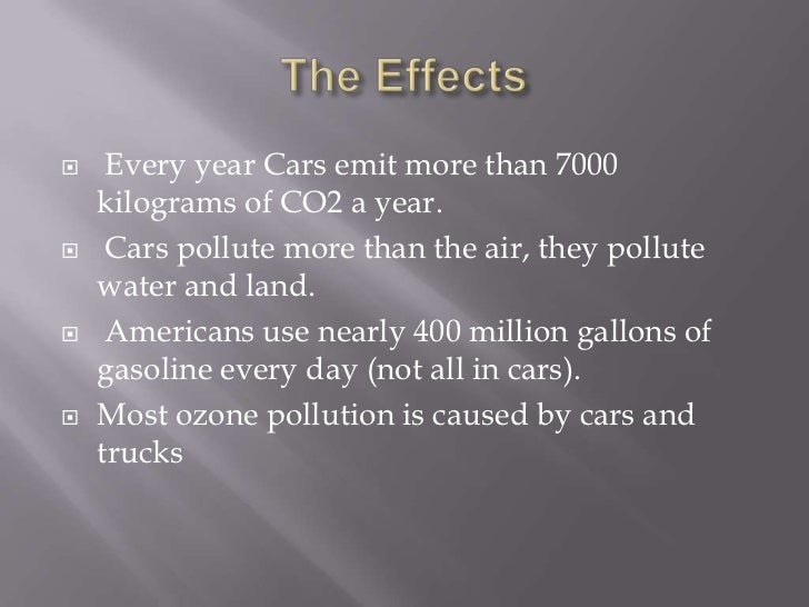 the problem of pollution from automobile emissions Pollution from automobile emissions has become over the past few decades an issue of great concern with a growing number of motor vehicles on our roads.