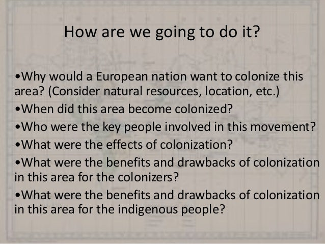 The effects of colonialism