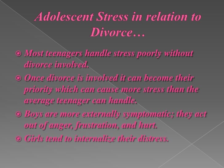 The Effects Of Divorce On Adolescents