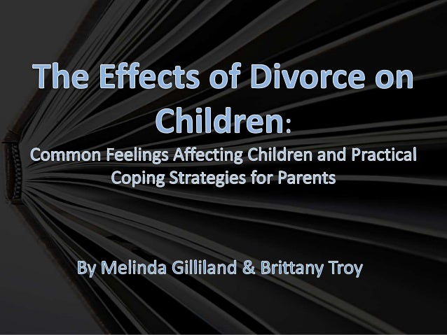 study on the effects of divorce on children Accompanying this trend are multiple studies analyzing the effects that divorce  has on children and the results aren't good, even if the stigma.