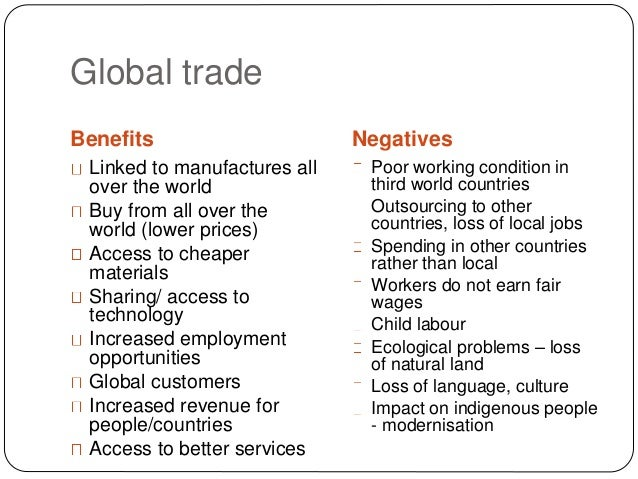 international effects of international trade 2 the impact of taxes on trade competitiveness various groups advocate tax policies on the grounds that they will encourage international competitiveness.