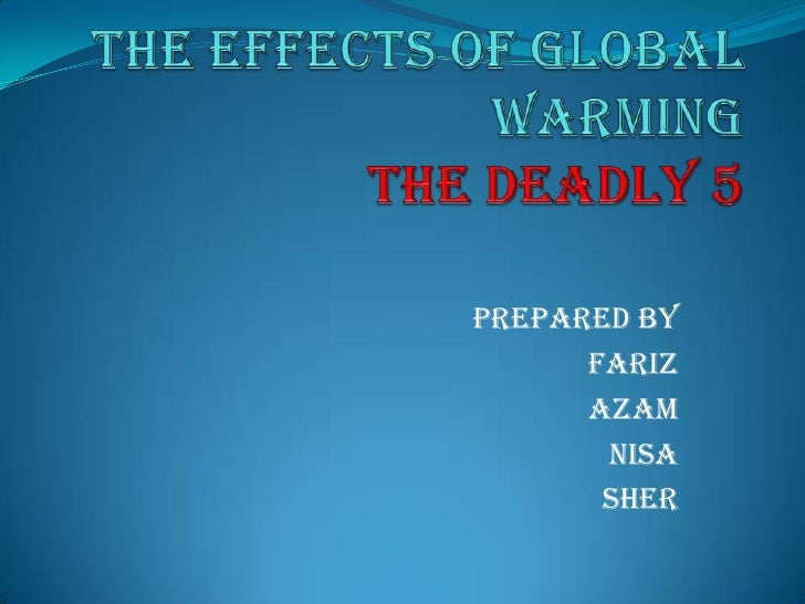 how to draw effects of global warming