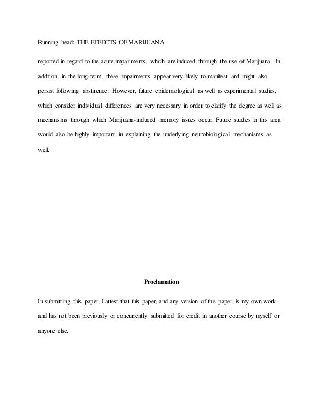 the effects of marijuanna essay sample many other consistent findings have also been 3