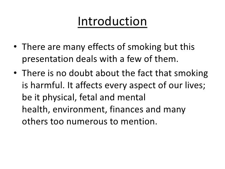 an essay on the health effects of smoking This is an essay that is about causes and effects of smoking among students it is composed of four paragraphs the main ones in the body are about causes of smoking among students and its b.