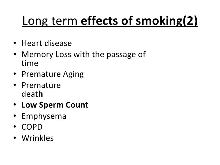 Smoking and sperm count