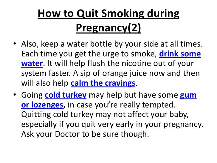 Effects Of Smoking While Pregnant