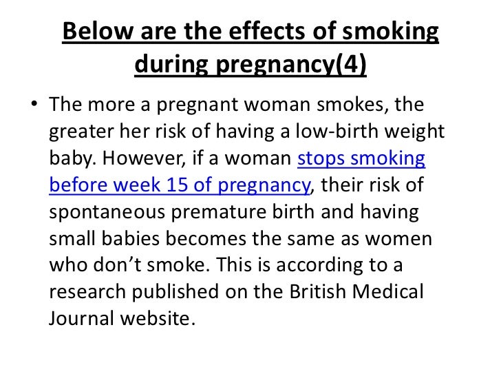 Second Hand Smoke and Pregnancy