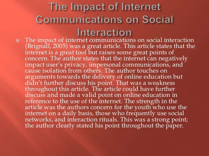 the effects of social networks The way social networks have impacted our personal and professional lives is far greater than most of us could have anticipated while we were battling with our friends over getting cut from their top friends list on their myspace profile, we couldn't have imagined the impact of social media today.