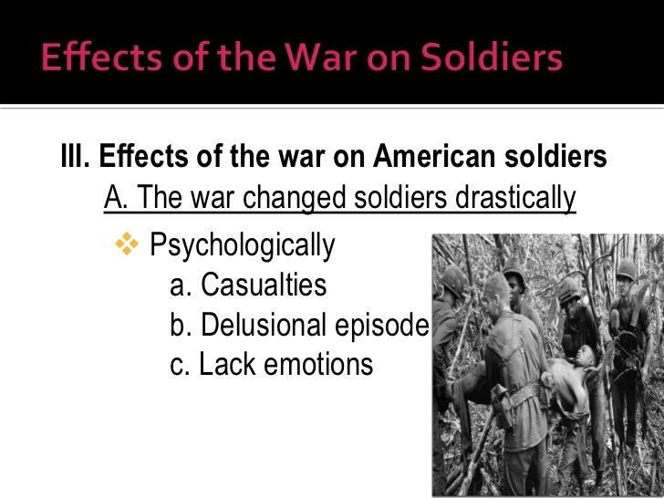 Emotional Effects of War on Soldiers