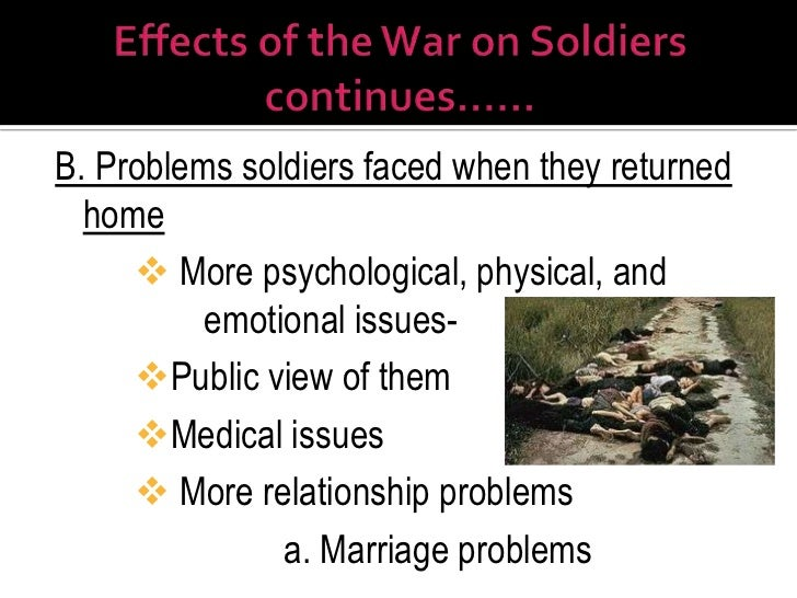 Psychological Effects of the Vietnam War on Gi's